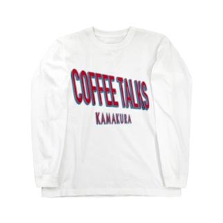 COFFEE TALKS KAMAKURA TEE コーヒートークスカマクラ マルチロゴ カフェ CAFE 白T おすすめ ビッグシルエット サイズ Long sleeve T-shirts