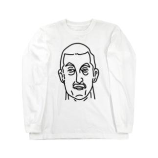 プロレス 神様 2 イラスト 偉人アート Long sleeve T-shirts
