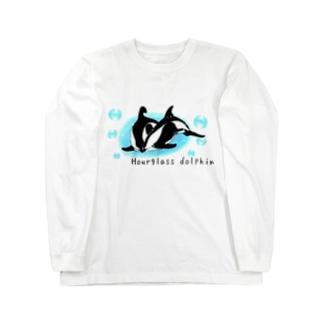 ダンダラカマイルカ Long sleeve T-shirts