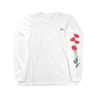 憂いに手向けるポピー Long sleeve T-shirts