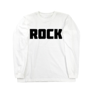 Rock ロック シンプルBIGロゴ ストリートファッション Long sleeve T-shirts