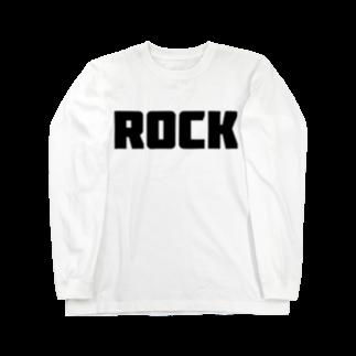 AliviostaのRock ロック シンプルBIGロゴ ストリートファッション Long sleeve T-shirts