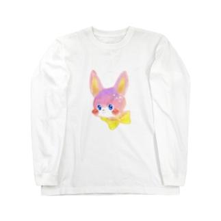 リボンうさぎ Long sleeve T-shirts