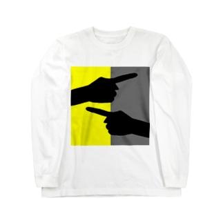 ヒューマン・フィンガー Long sleeve T-shirts