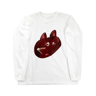 HEY BEAR FACE Long sleeve T-shirts