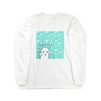 白いハニワ【Good!】 Long sleeve T-shirts