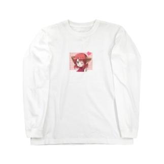 ねこみみガールズ【赤】 Long sleeve T-shirts