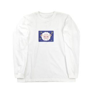 陽崎杜萌子@LINEスタンプ販売中の乙女ひつじ【good night】 Long sleeve T-shirts
