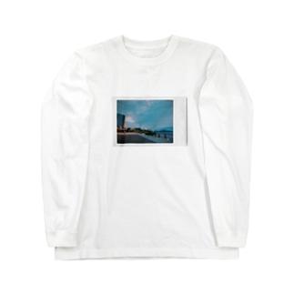 夕方の汐入 Long sleeve T-shirts