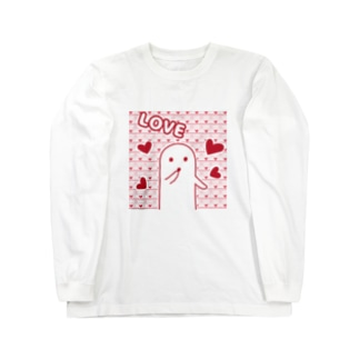 白いハニワ【LOVE】 Long sleeve T-shirts