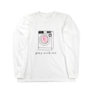 可愛い洗濯機のゲーム Long sleeve T-shirts