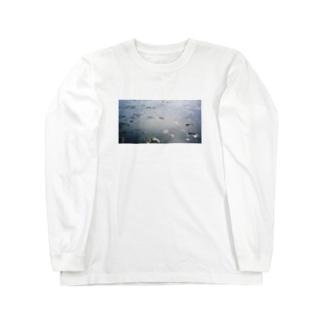 地球では潮干狩り Long sleeve T-shirts