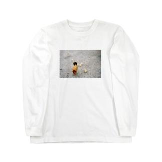 ニワトリとヒナ Long sleeve T-shirts
