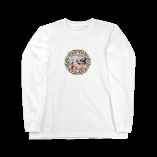 保護猫カフェ「駒猫」さん家のNo.4 イチゴちゃん♪ Long sleeve T-shirts