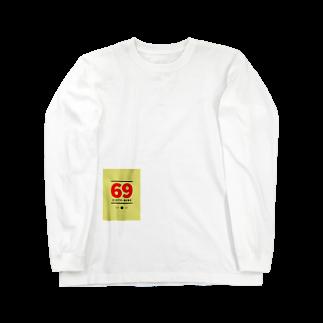 R_GD_trackの69ロゴ Long sleeve T-shirts