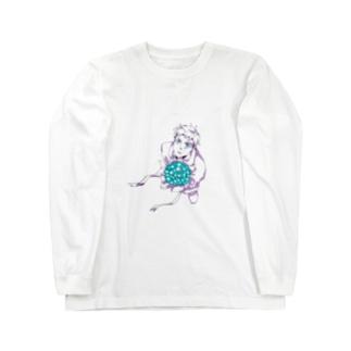 花束と男の子 Long sleeve T-shirts