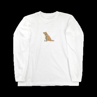 ごみちゃの倉庫のわんことペンギン Long sleeve T-shirts