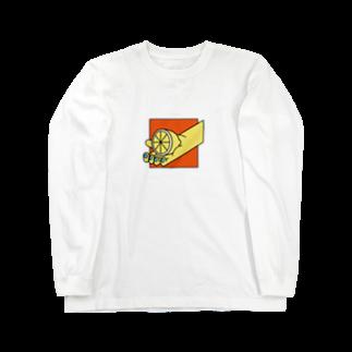 tsukunemのレモン Long sleeve T-shirts