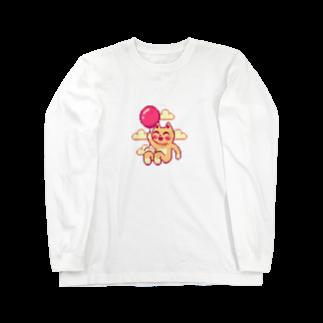 notteの浮遊するネコ Long sleeve T-shirts