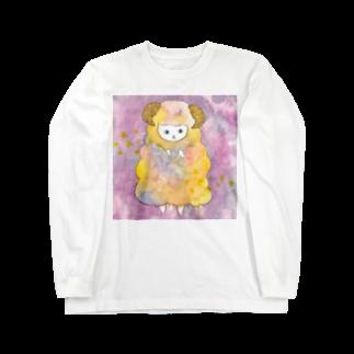 フクモトエミのおひつじ座のネコ Long sleeve T-shirts