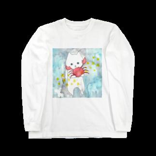 フクモトエミのかに座のネコ Long sleeve T-shirts