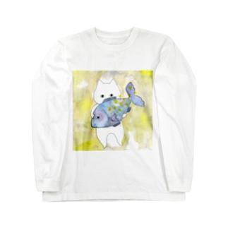 うお座のネコ Long sleeve T-shirts