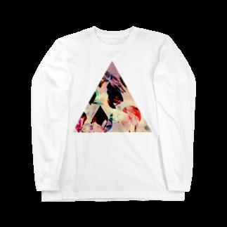【三角形の穴】の▲4【三角形の穴】  Long sleeve T-shirts