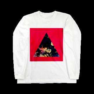 【三角形の穴】の▲5-P【三角形の穴】  Long sleeve T-shirts
