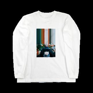 sun_keyakiのBald bear Long sleeve T-shirts