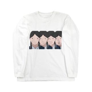 女子校生の並んだ顔です Long sleeve T-shirts