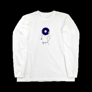 art_posca_drawingのレコード好きなあの子 Long sleeve T-shirts