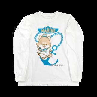 ラクガキメイトの柴犬 マリンルック Long sleeve T-shirts
