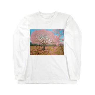 さくらひつじの開花 Long sleeve T-shirts