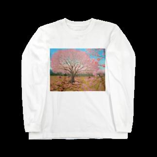 ひつじ好きの未草のギャラリーのさくらひつじの開花 Long sleeve T-shirts