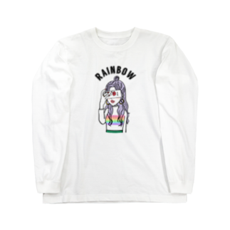 ayk_k24のRainbowニットちゃん Long sleeve T-shirts