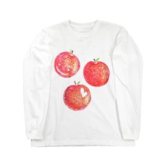 赤いりんご Long sleeve T-shirts