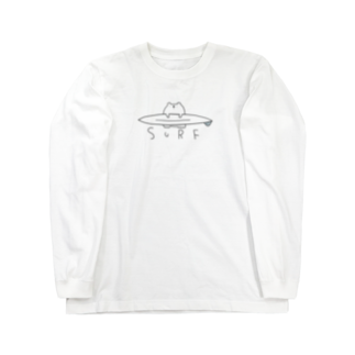 mashibuchiのしんぷるくまサーフ Long sleeve T-shirts