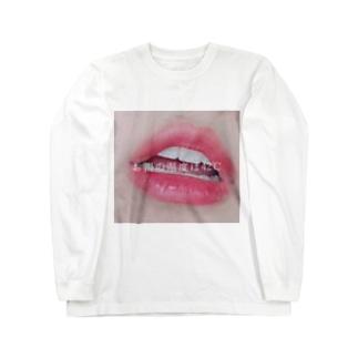 お湯の温度リップ Long sleeve T-shirts