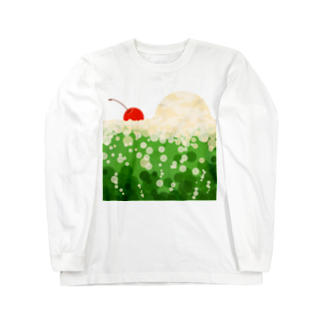 青い春のクリームソーダに溺れる Long sleeve T-shirts