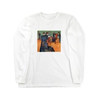 ムンク / 病室での死 / Death in the sickroom / Edvard Munch/1893 Long sleeve T-shirts