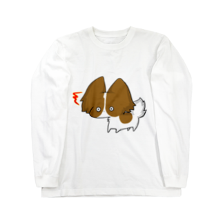SHIMSHIMPANのびっくりパピヨン Long sleeve T-shirts