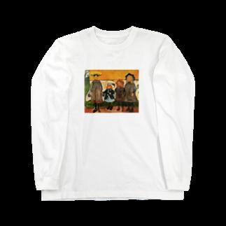 Art Baseのムンク / 1903 / Four girls in Arsgardstrand /Edvard Munch Long sleeve T-shirts