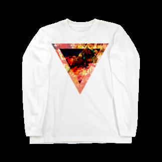 【三角形の穴】の▼3【逆三角形の穴】 Long sleeve T-shirts