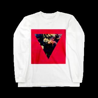 【三角形の穴】の▼5-P【逆三角形の穴】 Long sleeve T-shirts