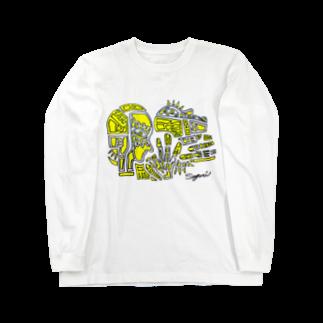 Sayuriの黄色 Long sleeve T-shirts