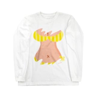 おっぱいTシャツ(YELLOW) Long sleeve T-shirts