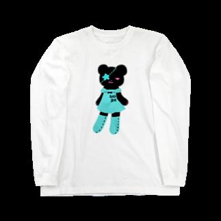 Suzuki Satomi イラストショップの黒クマちゃん Long sleeve T-shirts