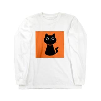 くろねこ Long sleeve T-shirts