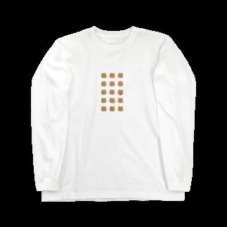ライのくまちゃんがたくさん Long sleeve T-shirts