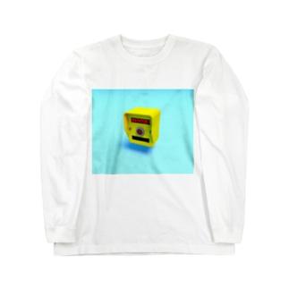 押しボタン式信号機(おまちください) Long sleeve T-shirts